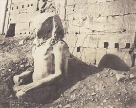 Karnak (Thèbes), Troisième Pylône - Colosse de Spath Calcaire, en D, 1851-52, printed 1853-54.