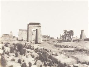 Karnak (Thèbes), Vue Générale des Ruines Prise du Point B, 1851-52, printed 1853-54.