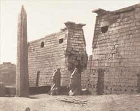 Louksor (Thèbes), Construction Antérieure - Pylône, Colosses et Obélisque, 1851-52, printed 1853-54.