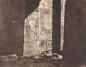 Ile de Fileh (Philæ), Premier Pylône, Inscription Française Gravée Sur L'ébrasement Oriental, En M, 1851-52.