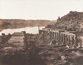 Ile de Fileh (Philæ), Vue Génèrale Prise du Point I, Sur La Plateforme du Pylône, 1851-52.