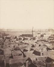 Edfou, Aspect Générale de la Ville Vue de la Plateforme Centrale du Pylône, 1851-52, printed 1853-54.