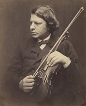 Herr Joachim, 1868. Joseph Joachim was a Hungarian violinist, conductor and composer. He sat for Cameron at the South Kensington Museum during one of his frequent appearances in London.