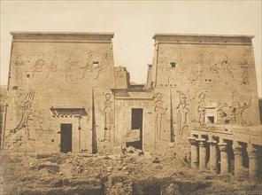 Dromos et Pylones du grand Temple d'Isis, à Philae, April 13, 1850.