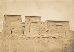 Vue générale du Temple de Dakkeh (Pselcis), prise au Nord, April 5, 1850.