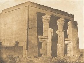 Vue de la façade du pronaos du Temple de Dakkeh (Pselcis), April 5, 1850.