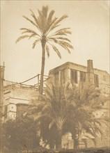 Dattiers et Maison du quartier Franc, au Kaire, December 1849-January 1850.