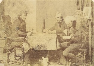 Group of Gentlemen Conversing over a Glass of Wine, February 7, 1846.
