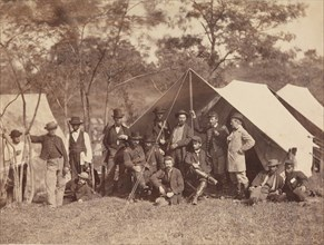 Group at Secret Service Department, Headquarters, Army of the Potomac, Antietam, October 1862, 1862.