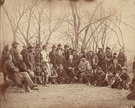 Indians with Government Agents, early 1860s.