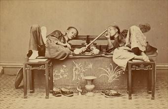 [Opium Smokers], 1870s.