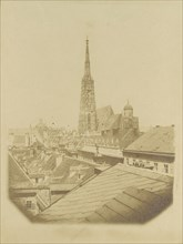 [View of the rooftops and cathedral of Vienna], ca. 1853.