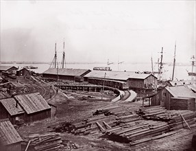 City Point, Virginia. Terminus of U.S. Military Railroad, 1861-65. Formerly attributed to Mathew B. Brady.