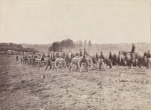 Battery Going into Action, Fredericksburg, December 13, 1862, 1862. Formerly attributed to Mathew B. Brady.