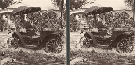 Pair of Stereograph Views of Early Automobiles, 1902-3.