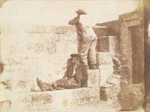 Two Young Men Resting on a Pier, late 1840s.