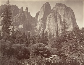 Cathedral Rocks and Spires, ca. 1872, printed ca. 1876.
