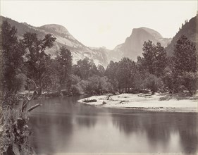 North and South Dome, Yosemite, ca. 1872, printed ca. 1876.