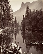 Mirror View of Sentinel Rock, Yosemite, ca. 1872, printed ca. 1876.