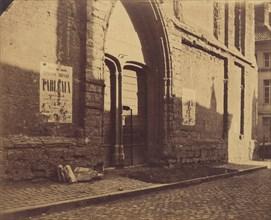 [Doorway of Predikheevenkerk, Gent, Belgium], ca. 1858.
