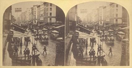 Broadway on a Rainy Day, 1859.