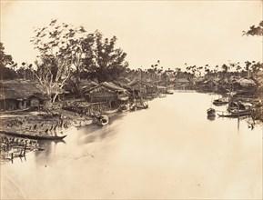 Vue de la Ville Chinoise (Cholen) Feuille No. 6, Saïgon, Cochinchine, 1866.