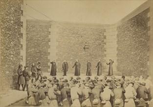 Exécution des otages, prison de la Roquette, le 24 mai 1871, 1870-71.