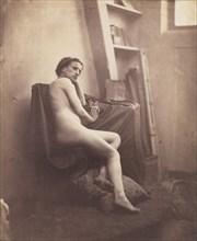 [Female Nude in Studio], 1856-59.