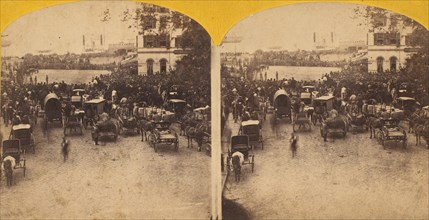 Reception of the Japanese Embassy at the Battery, 1860.