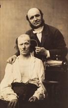 Faradisation du muscle frontal, 1854-56, printed 1862.