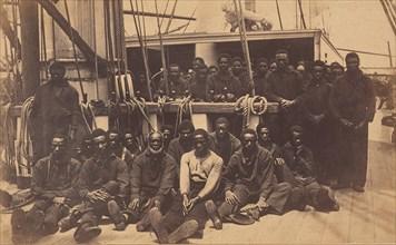 Contrabands Aboard U.S. Ship Vermont, Port Royal, South Carolina, 1861.