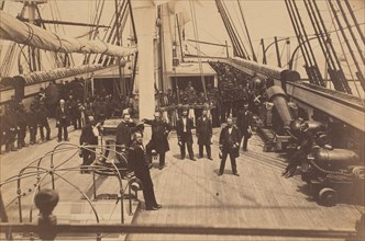 Deck of U.S. Ship Vermont, ca. 1863.