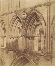 Rivaulx Abbey. The Triforium Arches, 1850s.