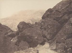 Blocs dans le chaos, St-Sauveur, 1853.