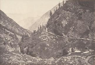 Gorge d'Astos, prise en revenant du lac d'Oo, Luchon, 1853.