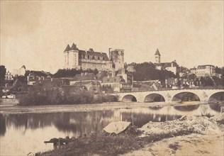 Vue du château de Pau, 1853.