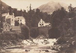 Village de Gèdres, Route de Gavarnie, 1853.