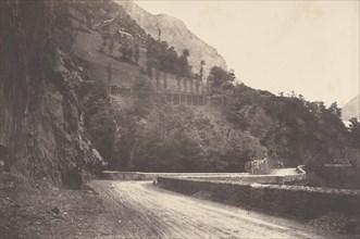 Route de Pierrefitte à Luz St Sauveur, 1853.