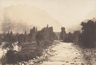 Vallée de Lur prise du chemin de Sasie à St-Sauveur, 1850.