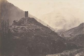 Vue de la Vallée de Luchon prise de la tour de Castelvieilh, 1853.