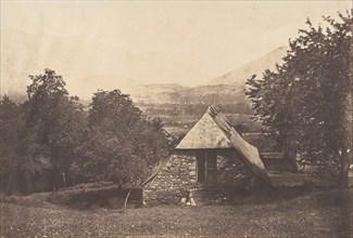 Vallée d'Argelès près de la ferme de Despourreins. St-Sauveur, 1853.