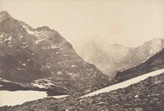 Vue de la partie de la Maladetta et des montagnes du haut du port de Vénasque, 1853.