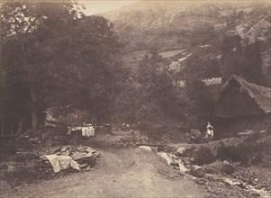 Village de Montaubant pris de Luchon, 1853.