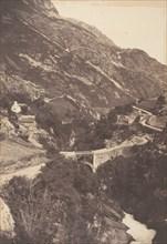 Pont de Sia Route de Gavarnie St Sauveur, 1853.