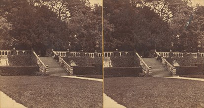 Group of 13 Early Stereograph Views of British Castles, 1860s-80s. (The Terrace Haddon).