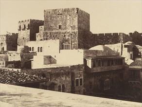 Jérusalem. Tour de David avec ses grandes assises salomoniennes, 1860 or later.