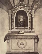 XIIIe Station. Jésus est remis entre les mains de sa mère. Cet autel est construit sur le rocher où se tenait la vierge marie pendant le crucifiement de son fils., 1860 or later.
