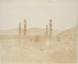 Ruine sulla prima terrazza, Persepolis, 1858.