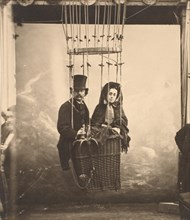 [Nadar with His Wife, Ernestine, in a Balloon], ca. 1865, printed 1890s.