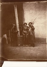 [The Artist, His Mother, and Friends in Fishing Garb], ca. 1860.